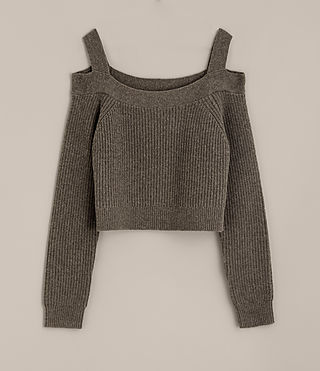 Damen Dasha Cropped-Pullover (Khaki Green) - product_image_alt_text_5