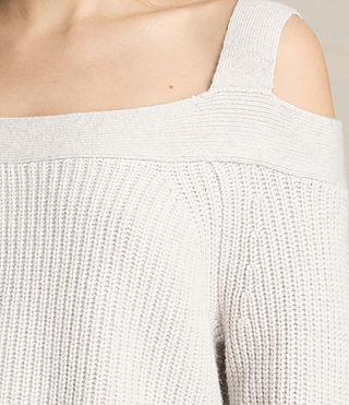 Womens Dasha Cropped Sweater (PORCELAIN WHITE) - product_image_alt_text_2