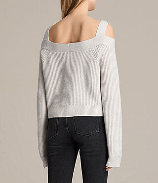 Mujer Dasha Cropped Sweater (PORCELAIN WHITE) - product_image_alt_text_4