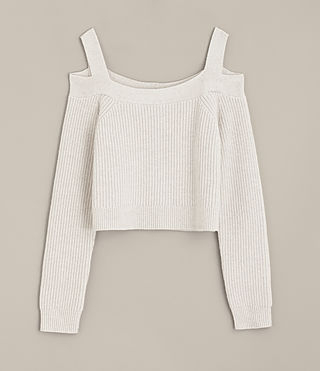 Mujer Dasha Cropped Sweater (PORCELAIN WHITE) - product_image_alt_text_5