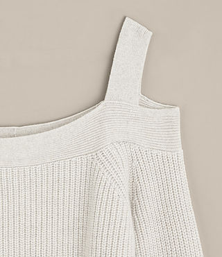 Mujer Dasha Cropped Sweater (PORCELAIN WHITE) - product_image_alt_text_6