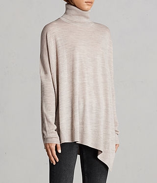 Womens Iris Merino Sweater (OATMEAL BROWN) - Image 3