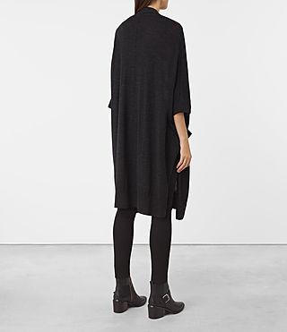 Mujer Dornie Merino Cardigan (Cinder Black Marl) - product_image_alt_text_3