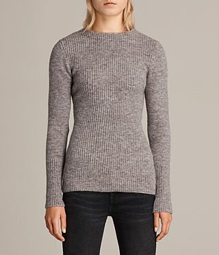 Women's Faria Jumper (Fawn Brown Marl) - Image 1