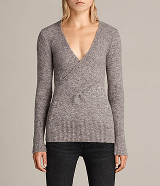 Women's Faria Jumper (Fawn Brown Marl) - Image 3