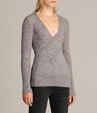 Women's Faria Jumper (Fawn Brown Marl) - Image 4