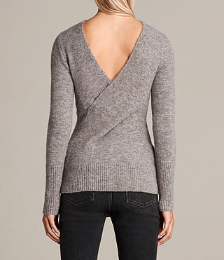 Women's Faria Jumper (Fawn Brown Marl) - Image 5