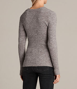 Women's Faria Jumper (Fawn Brown Marl) - Image 6
