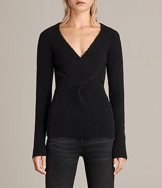 Women's Faria Jumper (Black) - Image 1