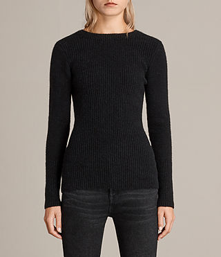 Women's Faria Jumper (Black) - Image 2