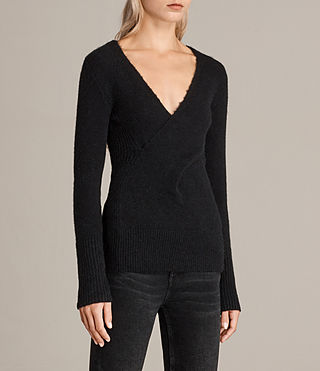 Women's Faria Jumper (Black) - Image 4