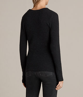 Women's Faria Jumper (Black) - Image 5