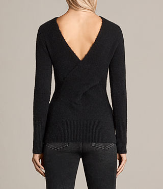 Women's Faria Jumper (Black) - Image 6