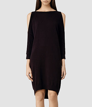 Womens Eleze Sweater Dress (LIQUORICE)