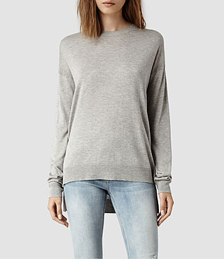 Womens Beck Sweater (Grey Marl)