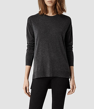 Womens Beck Sweater (Charcoal Marl)