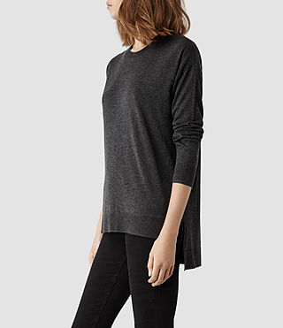 Womens Beck Sweater (Grey Marl) - product_image_alt_text_2