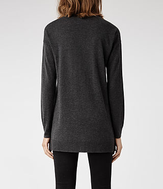 Womens Beck Sweater (Grey Marl) - product_image_alt_text_3