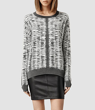 Womens Folds Jumper (Slate/Porcelain)