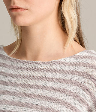 Women's Casso Crew Jumper (CREAM/QUARTZ PINK) - product_image_alt_text_2