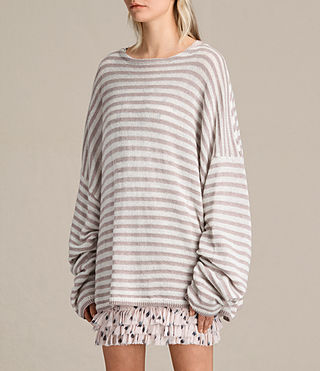 Womens Casso Crew Sweater (CREAM/QUARTZ PINK) - product_image_alt_text_4