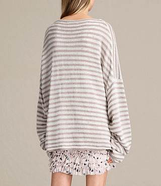 Womens Casso Crew Sweater (CREAM/QUARTZ PINK) - product_image_alt_text_5