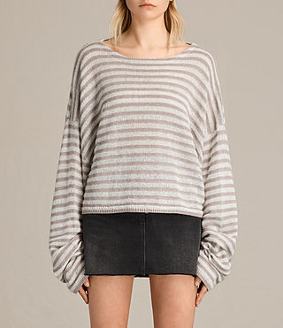 Womens Casso Cropped Sweater (CREAM/QUARTZ PINK)