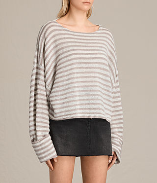 Women's Casso Cropped Jumper (CREAM/QUARTZ PINK) - product_image_alt_text_2