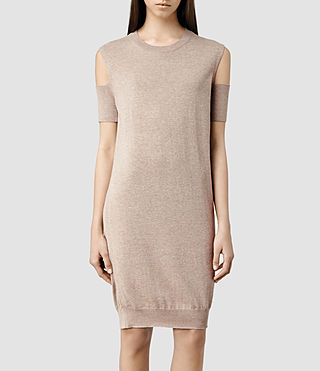 Womens Hafbec Dress (Nude)