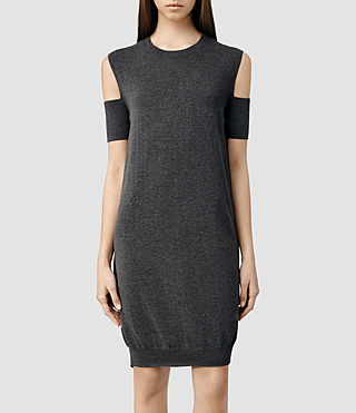 Womens Hafbec Dress (Charcoal)