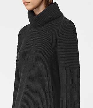 Femmes Jago Roll Neck Jumper (Cinder Black Marl) - product_image_alt_text_2