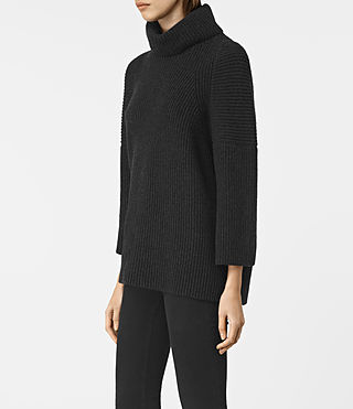 Femmes Jago Roll Neck Jumper (Cinder Black Marl) - product_image_alt_text_3