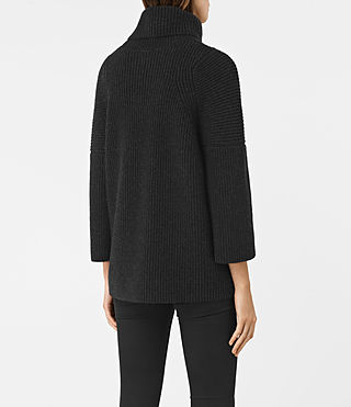 Femmes Jago Roll Neck Jumper (Cinder Black Marl) - product_image_alt_text_4