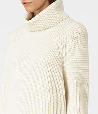 Damen Jago Roll Neck Jumper (Chalk White) - product_image_alt_text_2