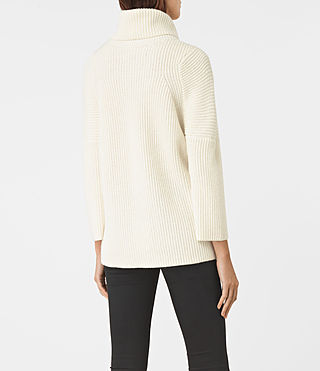 Damen Jago Roll Neck Jumper (Chalk White) - product_image_alt_text_4