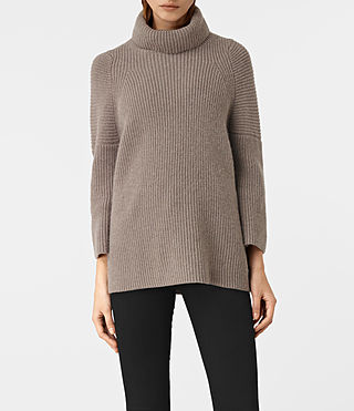 Womens Jago Roll Neck Sweater (LUNAR GREY)