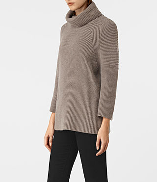 Mujer Jago Roll Neck Sweater (LUNAR GREY) - product_image_alt_text_2