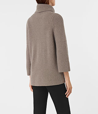 Damen Jago Roll Neck Jumper (LUNAR GREY) - product_image_alt_text_3