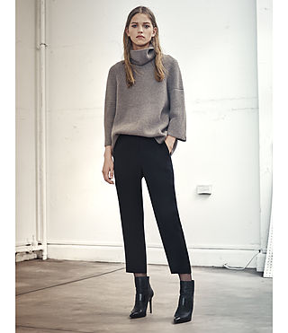 Damen Jago Roll Neck Jumper (LUNAR GREY) - product_image_alt_text_4