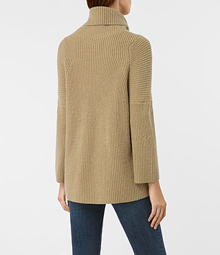 Damen Jago Roll Neck Jumper (SAND BROWN MARL) - product_image_alt_text_4