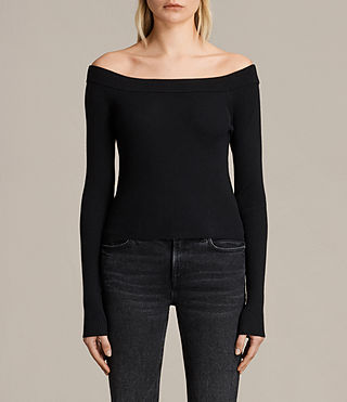 Womens Lavine Crop Top (Black)