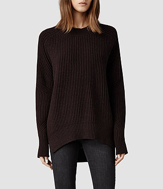 Womens Quinta Sweater (Deep Burgundy)
