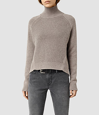 Womens Galo Funnel Neck Sweater (LUNAR GREY)