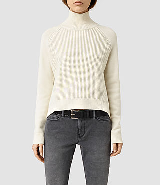 Womens Galo Funnel Neck Sweater (CLOUD WHITE)