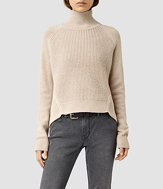 Damen Galo Funnel Neck Jumper (Quartz)
