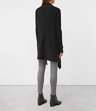 Femmes Keld Long Merino Cardigan (Cinder Black Marl) - product_image_alt_text_4