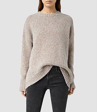 Womens Shine Sweater (GreyCopper)