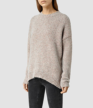 Women's Shine Jumper (GreyCopper) - product_image_alt_text_2