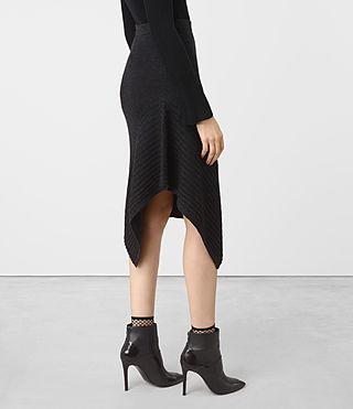 Femmes Keld Merino Skirt (Cinder Black Marl) - product_image_alt_text_2