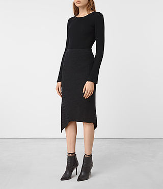 Damen Keld Merino Skirt (Cinder Black Marl) - product_image_alt_text_3
